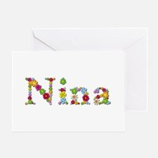 Nina Bright Flowers Greeting Card