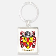 Tate Family Crest (Coat of Arms) Portrait Keychain