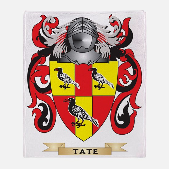 Tate Family Crest (Coat of Arms) Throw Blanket