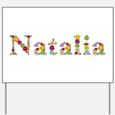 Natalia Bright Flowers Yard Sign