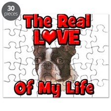 RealLoveOfMyLife Boston Terrier Puzzle