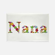 Nana Bright Flowers Rectangle Magnet 100 Pack