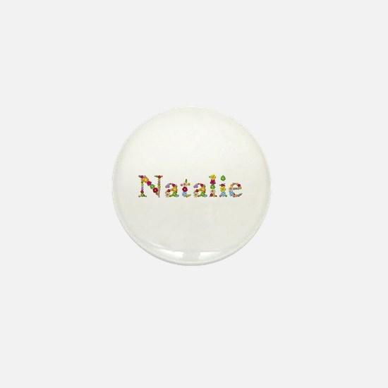 Natalie Bright Flowers Mini Button