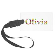 Olivia Bright Flowers Luggage Tag
