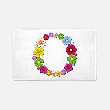 O Bright Flowers 3'x 5' Area Rug