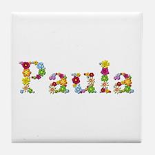Paula Bright Flowers Tile Coaster