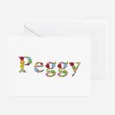 Peggy Bright Flowers Greeting Card
