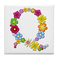 Q Bright Flowers Tile Coaster