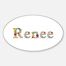 Renee Bright Flowers Oval Decal