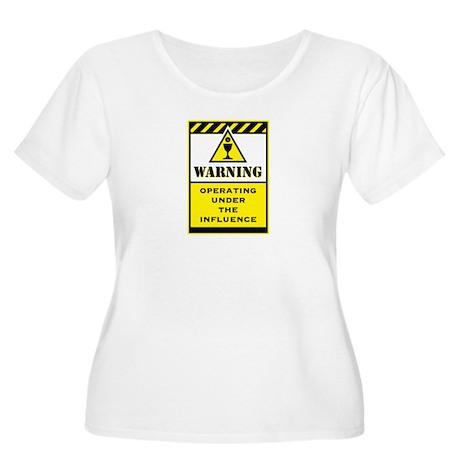 Caution Women's Plus Size Scoop Neck T-Shirt