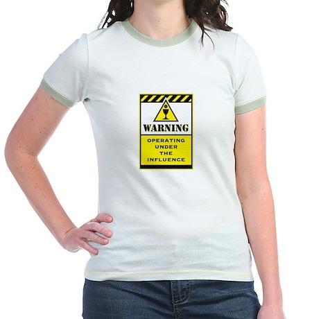 Caution Jr. Ringer T-Shirt