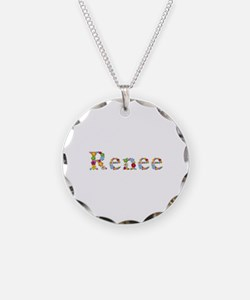 Renee Bright Flowers Necklace Circle Charm