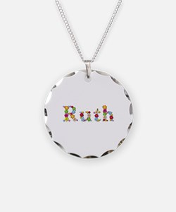 Ruth Bright Flowers Necklace