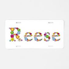 Reese Bright Flowers Aluminum License Plate