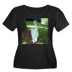 pelican Women's Plus Size Scoop Neck Dark T-Shirt