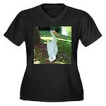 pelican Women's Plus Size V-Neck Dark T-Shirt