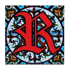 Stained Glass R Tile Coaster
