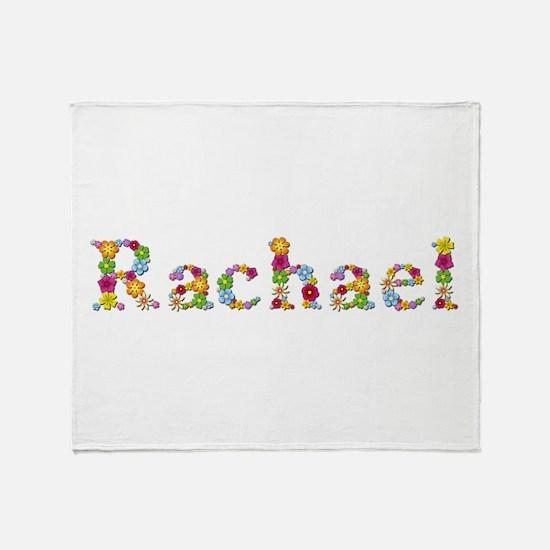 Rachael Bright Flowers Throw Blanket