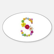 S Bright Flowers Oval Decal