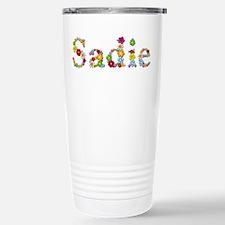 Sadie Bright Flowers Stainless Steel Travel Mug