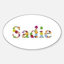 Sadie Bright Flowers Oval Decal