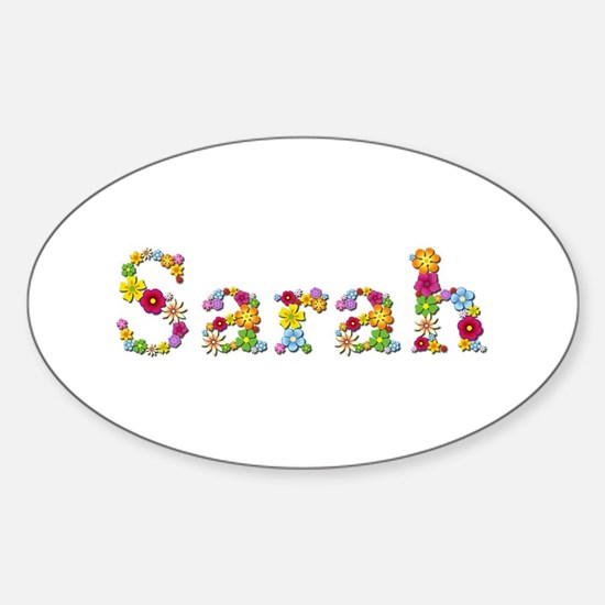 Sarah Bright Flowers Oval Decal