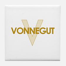 Kurt Vonnegut Tile Coaster