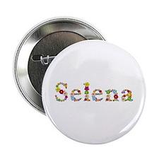 Selena Bright Flowers Button