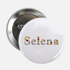 Selena Bright Flowers Button
