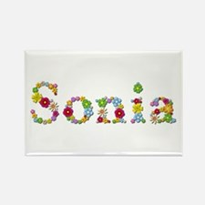 Sonia Bright Flowers Rectangle Magnet