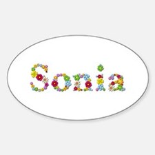 Sonia Bright Flowers Oval Decal