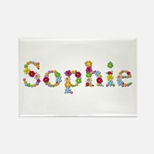 Sophie Bright Flowers Rectangle Magnet