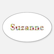 Suzanne Bright Flowers Oval Decal