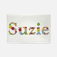 Suzie Bright Flowers Rectangle Magnet
