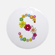 S Bright Flowers Round Ornament