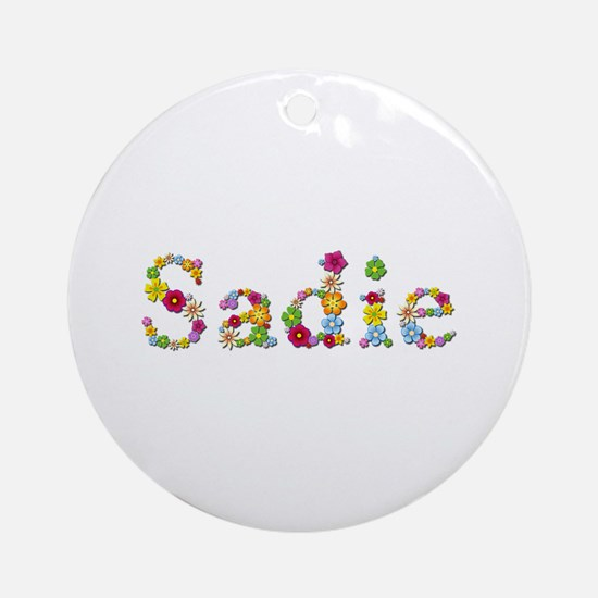 Sadie Bright Flowers Round Ornament