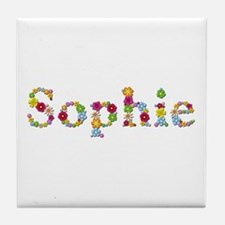 Sophie Bright Flowers Tile Coaster