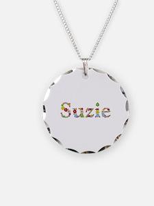 Suzie Bright Flowers Necklace