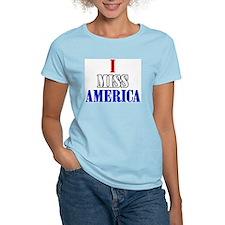 Women's Pink T-Shirt - I miss america