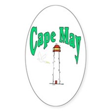 Cape May, New Jersey Oval Decal