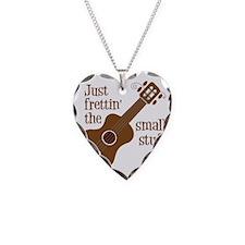 Frettin mahogony Necklace Heart Charm