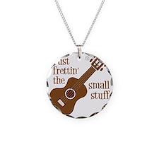 Frettin mahogony Necklace Circle Charm