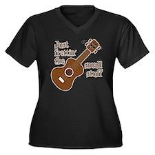 Frettin maho Women's Plus Size V-Neck Dark T-Shirt