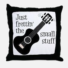 Frettin 2, black uke Throw Pillow