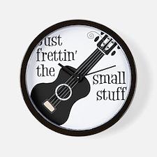 Frettin 2, black uke Wall Clock