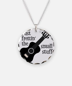 Frettin 2, black uke Necklace Circle Charm