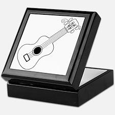 Frettin white uke on black Keepsake Box
