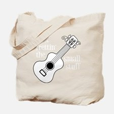 Frettin white uke on black Tote Bag