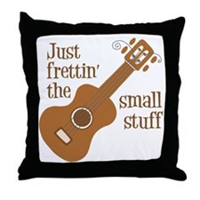 Frettin tan uke Throw Pillow