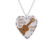Frettin tan uke Necklace Heart Charm